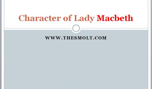character of Lady Macbeth