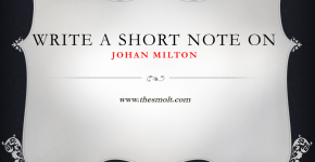 Short note on John Milton