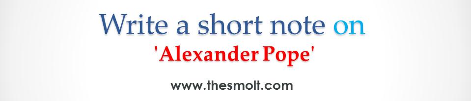 Alexander Pope as a Poet