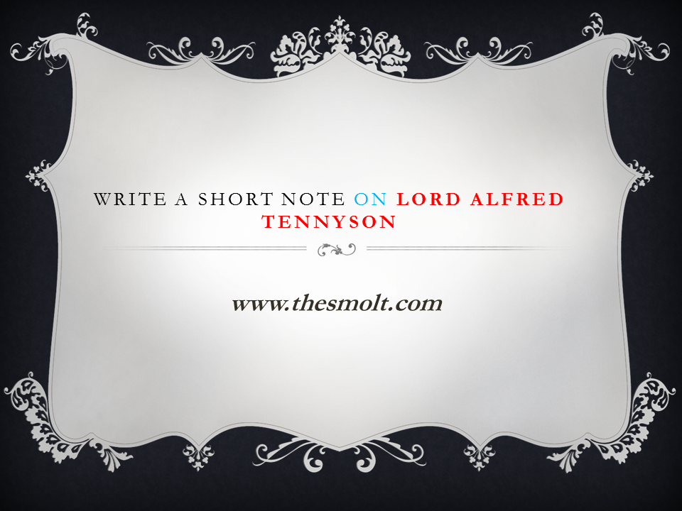 Lord Alfred Tennyson biography