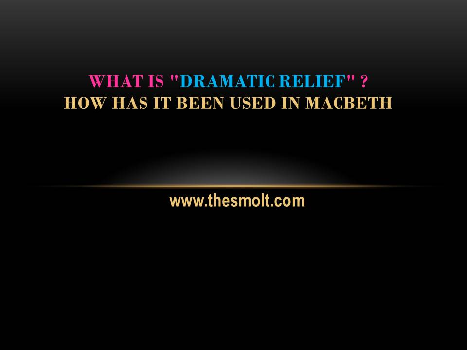 What is dramatic relief