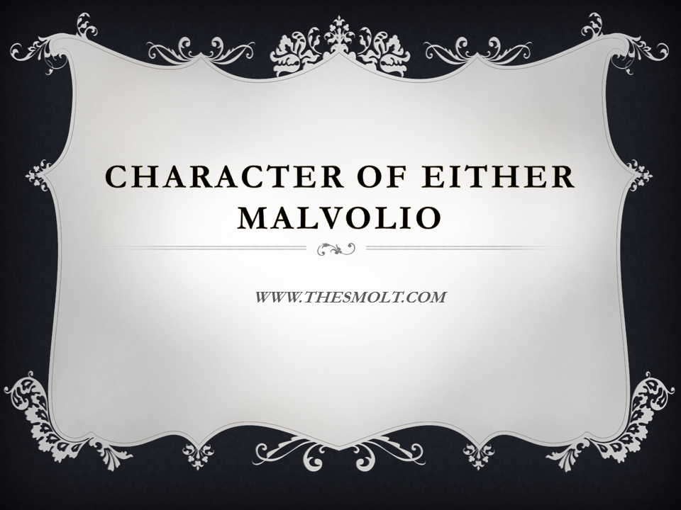 character of Malvolio in twelfth night