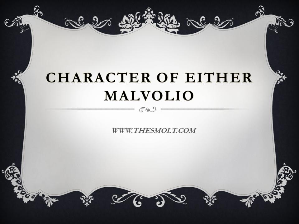 character of Malvolio in twelfth night