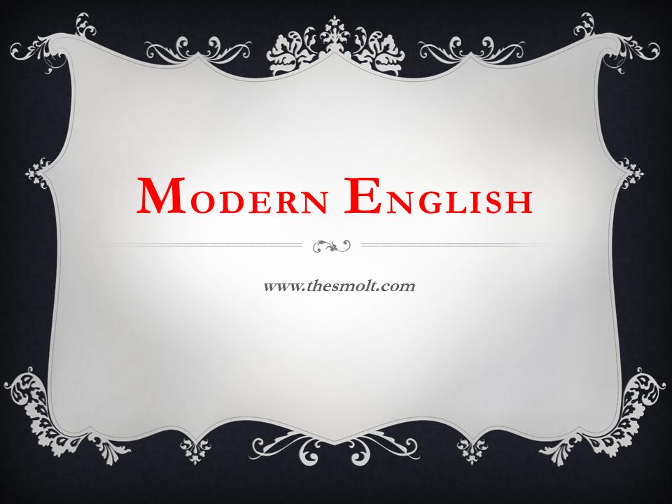 Characteristics of Modern English