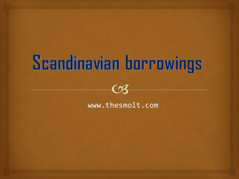 Scandinavian borrowings in English Language