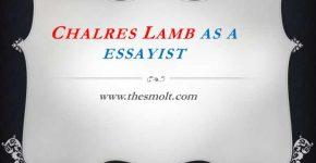 Charles Lamb as an essayist