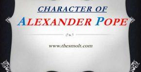 Alexander pope as a satirist