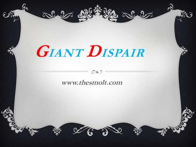 Giant despair pilgrim's progress