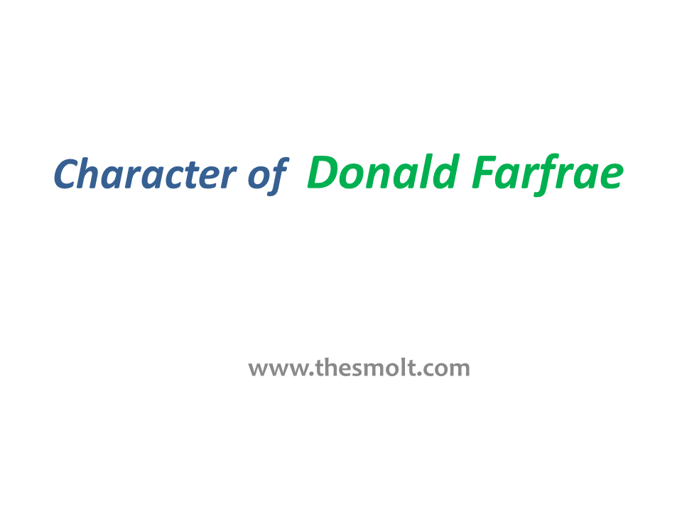 Donald Farfrae Character Analysis