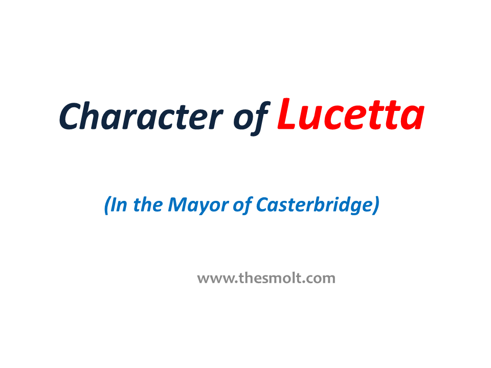Character of Lucetta