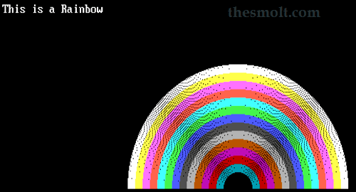 C program to Draw A rainbow