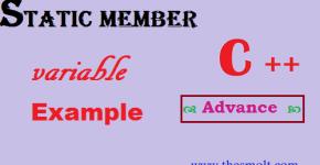 static member variable program in cpp