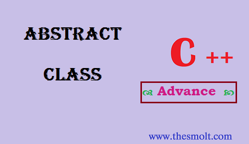 abstract class in cpp