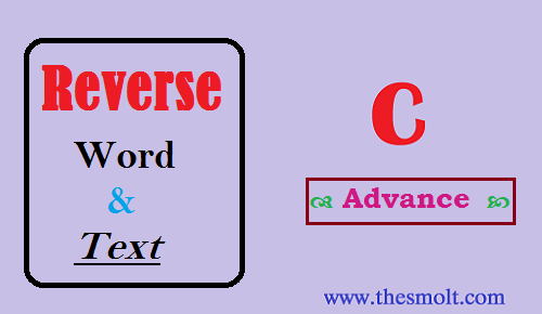 Reverse a string in C programming