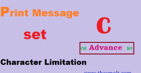Advance C program for printing Message