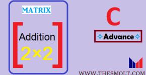 Sum of 2 matrix in c