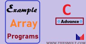Example of Array program in C