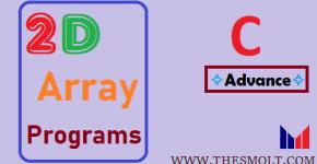 2d array programs in C