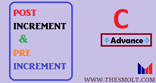 Function call increment and decrement program in C