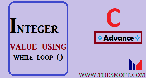 Print integer value using while loop