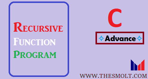 recursive function program in c