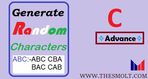 Generate three random character in C